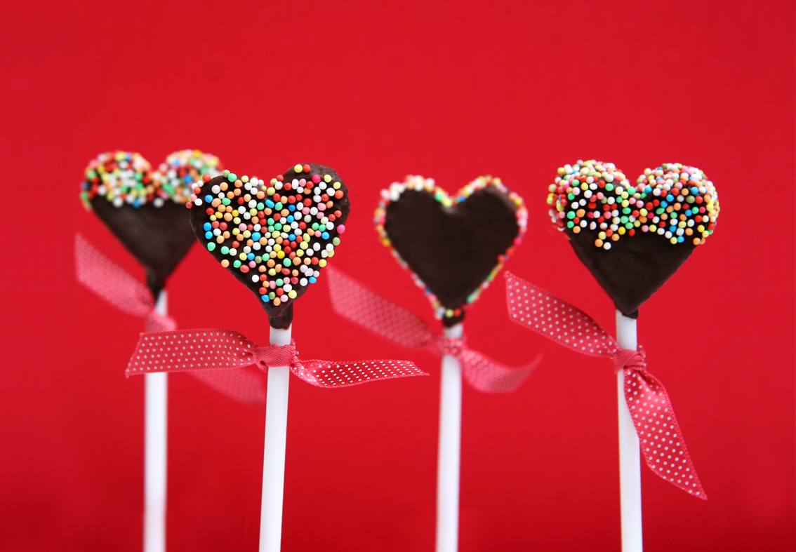 Heart Cake Pop Sticks